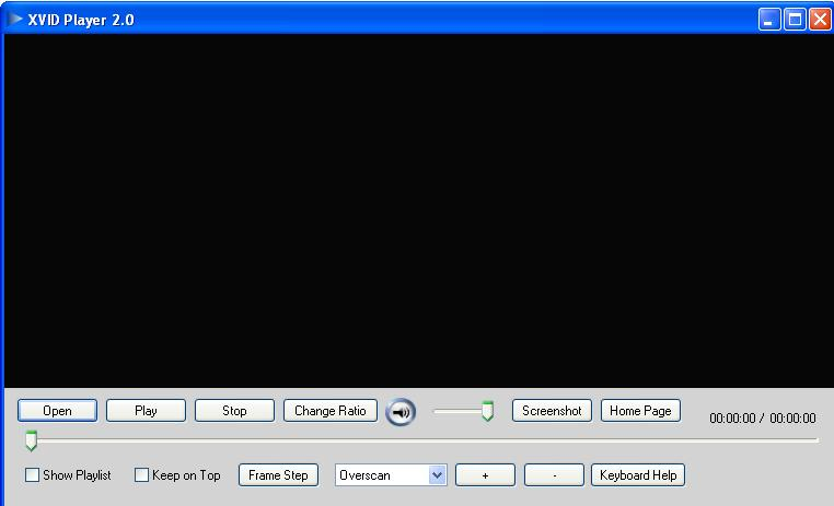 Screenshot of XVID Player 1.0